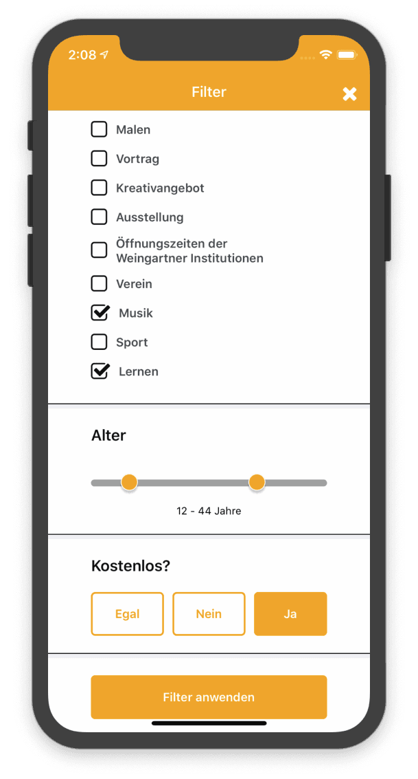 freizeitapp Screenshot 4